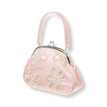 Petal Pink Floral Eyelet Silk Duppioni Purse at JanieandJack