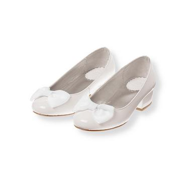 Pure White Bow Patent Leather Shoe at JanieandJack