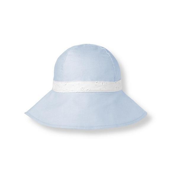 Eyelet Bow Oxford Hat