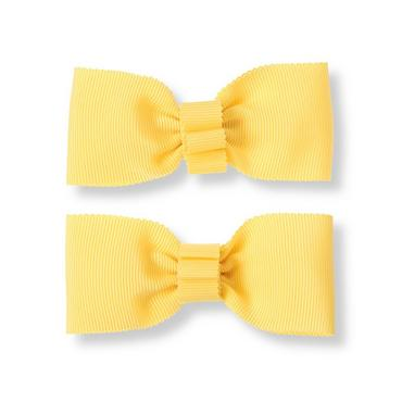 Daffodil Yellow Bow Barrette Two-Pack at JanieandJack