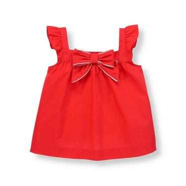 Vintage Red Bow Ruffle Sleeve Top at JanieandJack