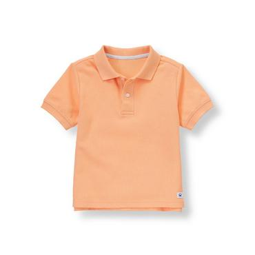 Sunrise Orange Polo Shirt at JanieandJack