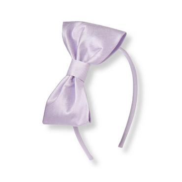 Lavender Silk Bow Headband at JanieandJack