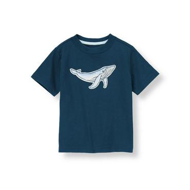 Nautical Navy Whale Tee at JanieandJack