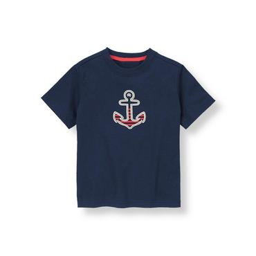 Marine Navy Anchor Tee at JanieandJack