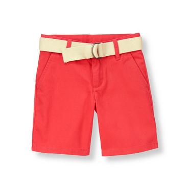 Buoy Red Belted Short at JanieandJack