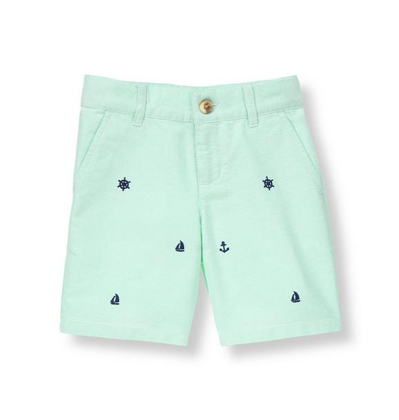 Sailing Embroidered Oxford Short