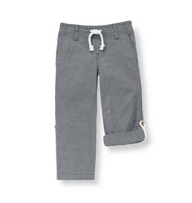 Canvas Roll Cuff Pant
