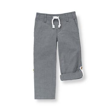 Marine Navy Dot Canvas Roll Cuff Pant at JanieandJack