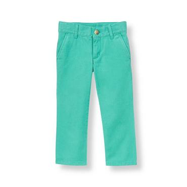 Aqua Colored Skinny Fit Pant at JanieandJack