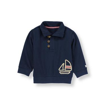 Marine Navy Sailboat Pullover at JanieandJack