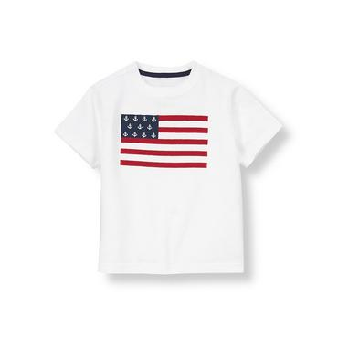 Pure White Anchor Flag Tee at JanieandJack