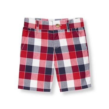 American Red Plaid Plaid Short at JanieandJack