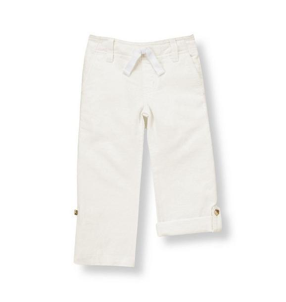 Roll Cuff Linen Blend Pant