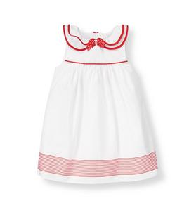 Ruffle Collar Ribbon Dress