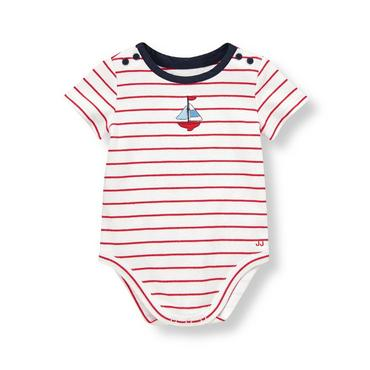 Sailboat Red Stripe Sailboat Stripe Bodysuit at JanieandJack