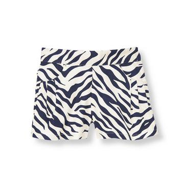 Navy Zebra Zebra Dobby Short at JanieandJack