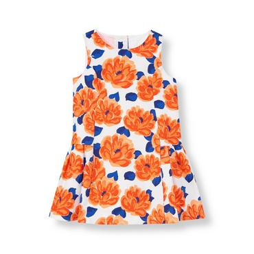 Coral Blossom Floral Dress at JanieandJack