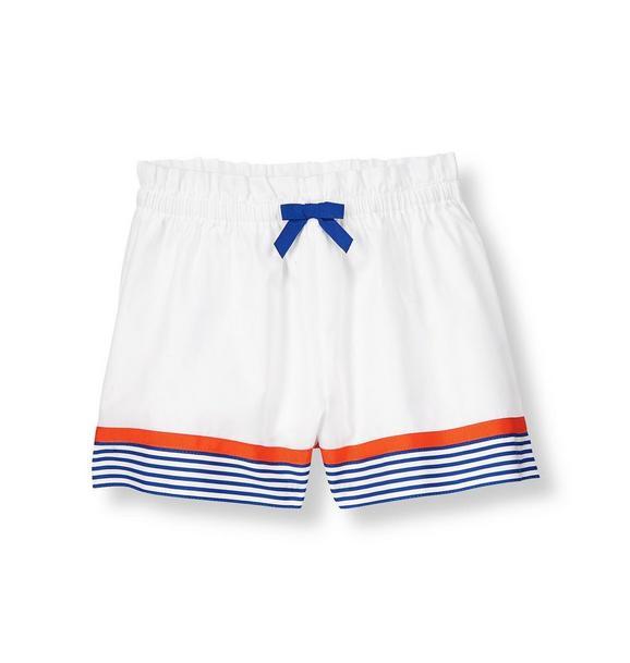 Stripe Hem Culotte Short