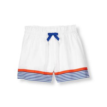Pure White Stripe Hem Culotte Short at JanieandJack
