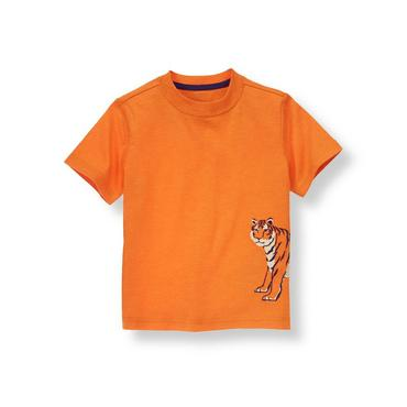 Tiger Orange Tiger Tee at JanieandJack