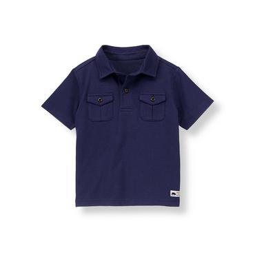 Midnight Navy Camp Shirt at JanieandJack