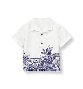 Jungle Scene Linen Shirt