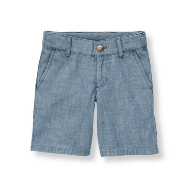 Chambray Blue Chambray Short at JanieandJack