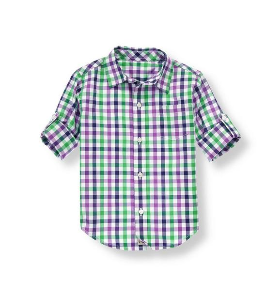 Gingham Roll Cuff Shirt