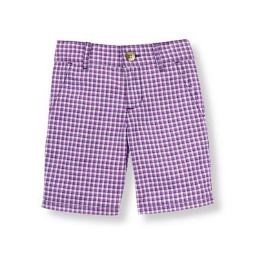 Violet Check Checked Short at JanieandJack