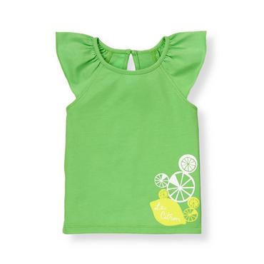 Leaf Green Citrus Top at JanieandJack