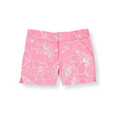Pink Peony Floral Short at JanieandJack
