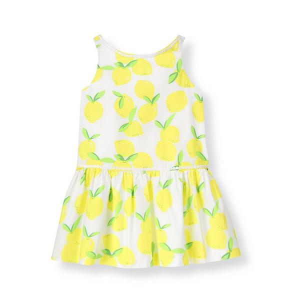 Circle Trim Lemon Dress