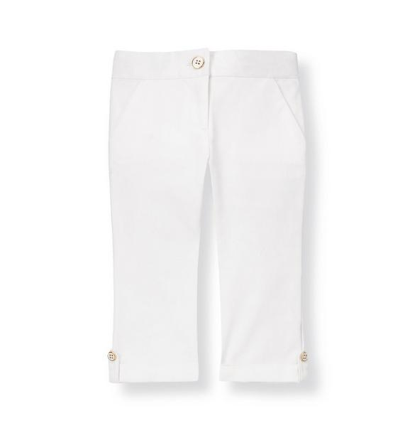 Button Cuff Capri Pant