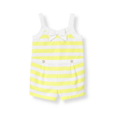 Citron Stripe Stripe Pique Romper at JanieandJack