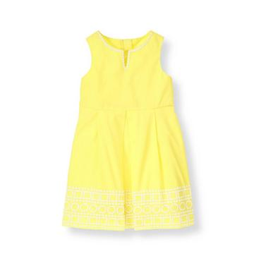 Citron Geo Embroidered Dress at JanieandJack