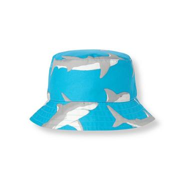 Boys Reef Blue Shark Bucket Hat at JanieandJack