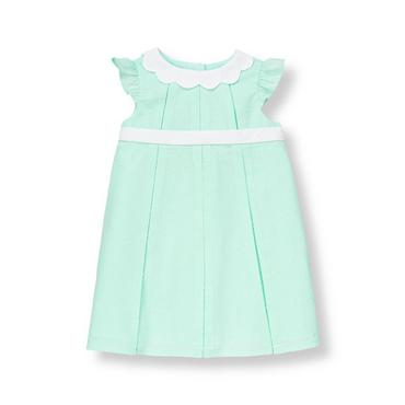 Baby Girl Parisian Blue Swiss Dot Dress at JanieandJack