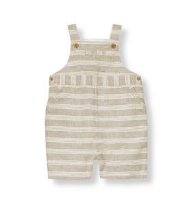 Striped Linen Blend Shortall
