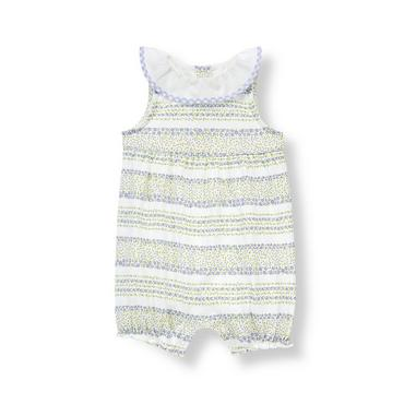 Baby Girl Lavender Blossom Stripe Floral Striped One-Piece at JanieandJack
