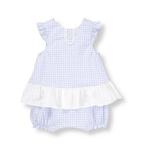 Skirted Gingham One-Piece