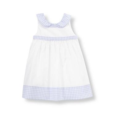 Baby Girl Pure White Gingham Sash Dress at JanieandJack