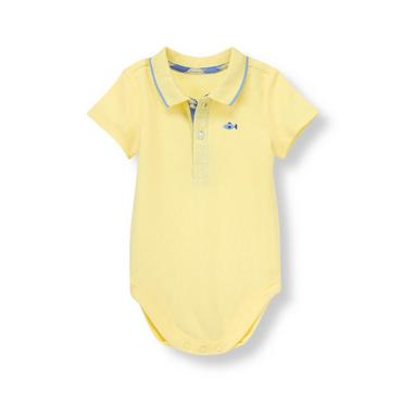 Summer Yellow Fish Polo Bodysuit at JanieandJack