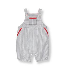 Striped Seersucker Shortall