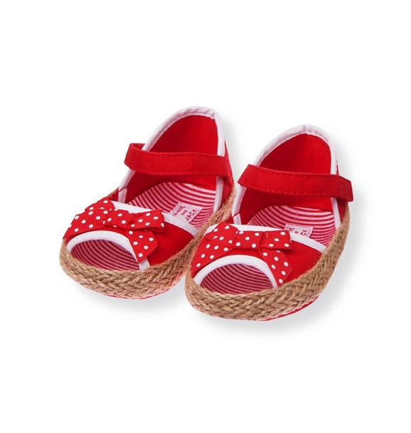 Dot Bow Crib Espadrille
