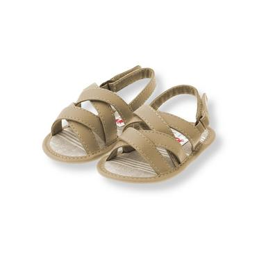 Baby Boy Pebble Brown Crib Sandal at JanieandJack