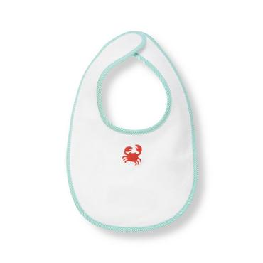 Pure White Crab Bib at JanieandJack