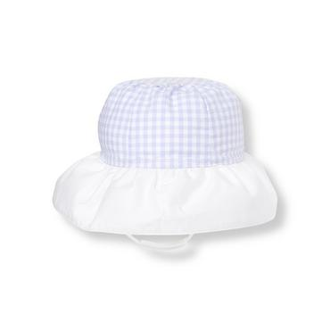 Lavender Check Gingham Sunhat at JanieandJack