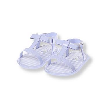 Lavender Patent Bow Crib Sandal at JanieandJack