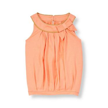 Tropical Peach Bow Top at JanieandJack